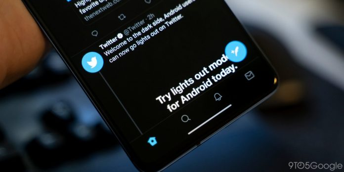 """, Twitter's """"Lights Out"""" Dark Theme Now on Android Finally"""